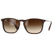 Óculos Ray Ban De Sol Chris Lentes Marrom Gradiente