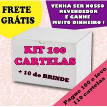 Kit Revenda 100 Cartelas De Adesivos Película Unha Interira