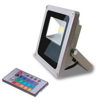 Refletor Holofote Led Rgb 10w Bivolt Controle Remoto Ip65