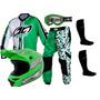 Kit Conjunto Trilha Motocross Piloto Pro Tork Geometric