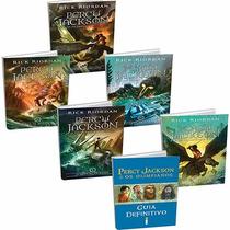 Coleção Percy Jackson +guia Definitivo(6 Livros Frete Grátis