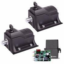 Kit 2 Trava Portao Eco Lock Eletromagnetica 220v + Temporiz.