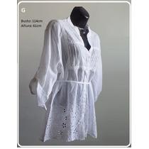 Bata Branca Bordada Blusinha Camisa G Gg Xxg Plus Size