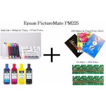 Bulk Ink Epson Picturemate Pm225 +800 Ml Tinta +papel+chip