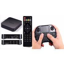 Kit Android Smart Tv Box Mxq + Mini Teclado Touch Pad