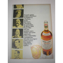( L - 290/ G ) Propaganda Antiga Whisky Royal Label