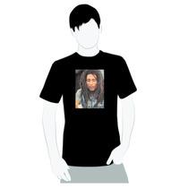 Camisa Camiseta Em Algodão- Bob Marley Foto De Camisa Jeans