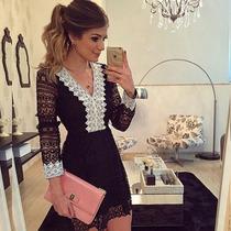 Vestido Em Renda (frete Grátis )