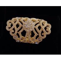 Anel Feminino Festa Luxo Banhado Ouro Amarelo 18k