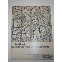 ( L - 290/ G ) Propaganda Antiga Telhas Eternit