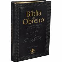 Bíblia Do Obreiro Editora Sbb Rc Média Capa Couro Preta