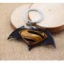 Chaveiro De Metal Filme Batman Vs Superman Dourado / Amarelo