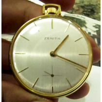 Relógio De Bolso De Ouro 18k Zenith A Corda