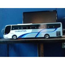 Miniatura De Ônibus Gosmestur Ou Personalize 1:24 Mdf