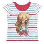 Blusa Camiseta Infantil Polly Gerânio Tam 04 - Lecimar