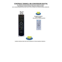 Controle Para Receptor Zinwell Br Digital