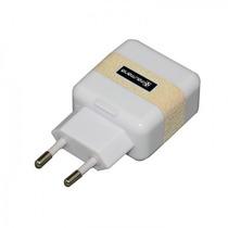 Fonte Carregador Dual Usb Branco Para Dispositivos Usb (763)