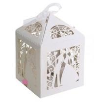 Caixa Lembrancinha Casamento Noivos Em Papel - 12 Unidades