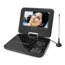 Dvd Tv Portatil Powerpack Dvd Tv7318com Bolsa Veicular Game