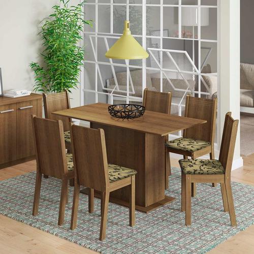 Conjunto Sala De Jantar Mesa E 6 Cadeiras Celeny Madesa
