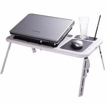 Mesa Portátil Notebook Cooler Hub E-table Branca
