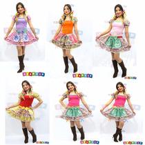 Vestido Caipira Junino Adulto Festa Junina 36 Ao 48