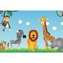 Painel Decorativo Festa Infantil Safari Zoo Animais (mod2)