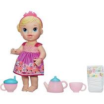 Boneca Baby Alive Hasbro Hora Do Chá Chazinho Mágico - Loira