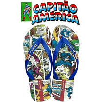 Chinelo Capitão América Marvel Comics Ipanema Adulto 25923