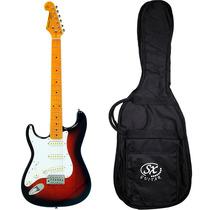 Guitarra Canhota Stratocaster Sx Sst57lh Vintage C/ Bag
