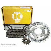 Kit Relação K Nxr 150 Bros 06 Acima Aço 1045 Com Retentor