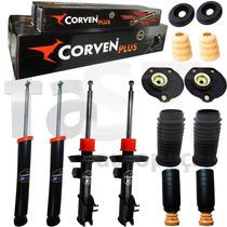 4 Amortecedores Corven Punto 2007/ + Kit Suspensão Completo