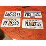 Placas De Carros Americanos Usadas, Originais, Vintage