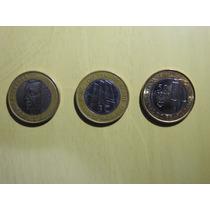 3 Moedas Comemorativas 1 Real Centenário Jk Bc 40 E 50 Anos.
