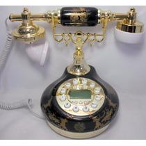 Telefone Mesa Preto Vintage Antigo Retro Decoração Presentes