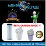 Refil Para Filtro Pou 7 Pentair Hidrofilter Carbon Block 7