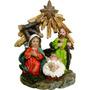 Presépio 3 Figuras 8cm Em Resina - Natália Christmas