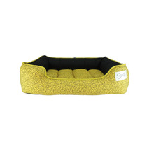 Cama Pet Confort Pillow Floral Amarela
