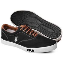 Tênis Polo Sneaker Masculino Preto
