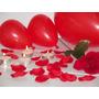 Kit Namorados = Pétalas Artificiais + Rosa + Velas + Balão