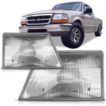 Farol Ford Ranger 98 99 2000 01 02 03 04 Cromado