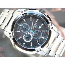 O R I E N T Relógio Orient Cronógrafo Quartzo Aço Calendario