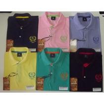 Atacado Kit 12 Camisas Polo Masculina Diversas Cores/marcas