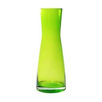 Vaso Colorat Verde Transparente Em Vidro - 25x10 Cm