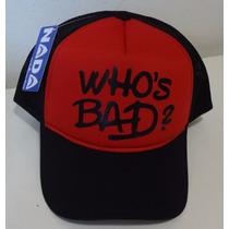 Boné Whos Bad Michael Jackson Trucker Cap Tela