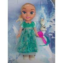 Boneca Frozen Rainha Elsa Musical Com Luz Corpo De Borracha