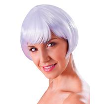 Peruca - Ladies Flirty Womens Flick Bob Glamour Sexy White