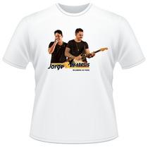 Camiseta Camisa Personalizada Jorge E Mateus