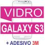 Tela Vidro Samsung Galaxy S3 I9300 Branco + Adesivo 3m