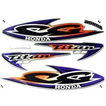 Jogo Kit Adesivo Honda Titan125 Es 2000 Prata